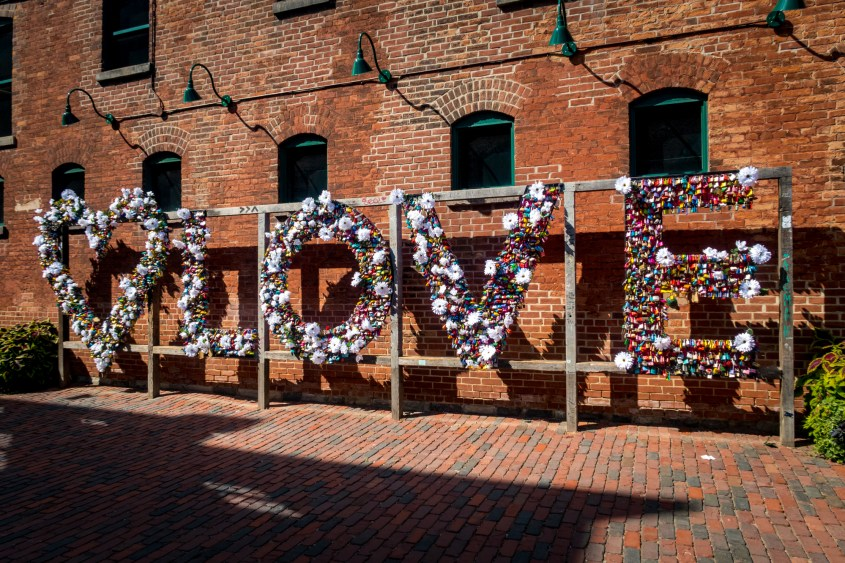 LOVE locks sign Distillery District Toronto