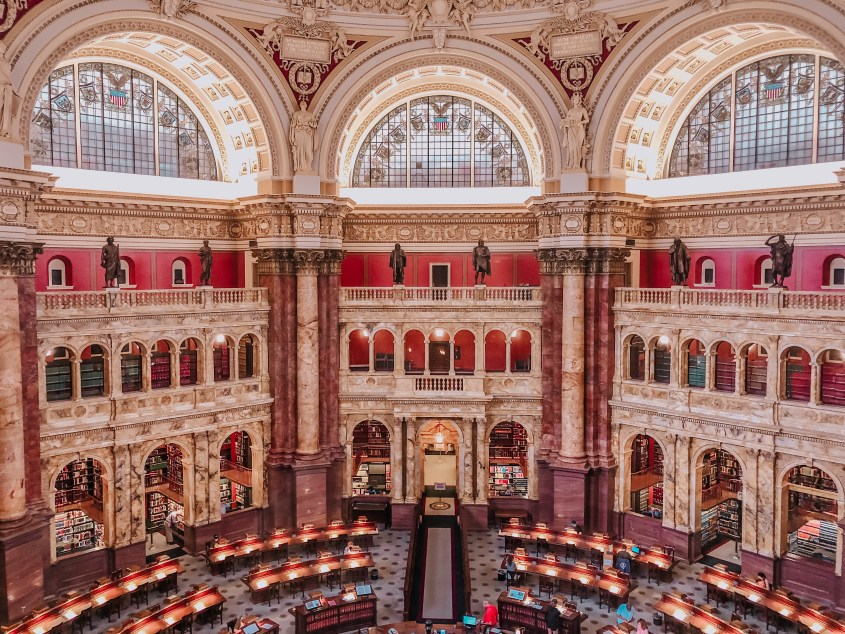 Make sure you find time to visit the ornate reading room of the Library of Congress during your 2 days in Washington DC