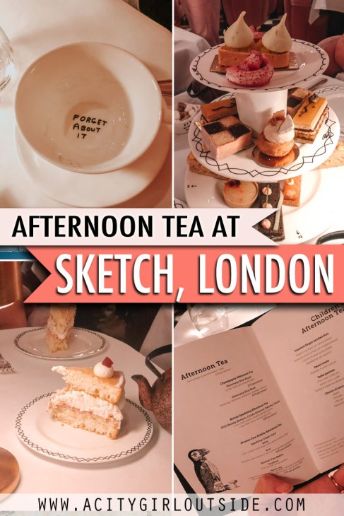 An afternoon tea at Sketch London. London's most instagrammable afternoon tea and must do in the city!