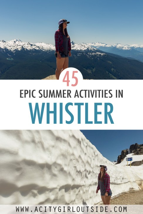 Things to do in summer in Whistler, Canada