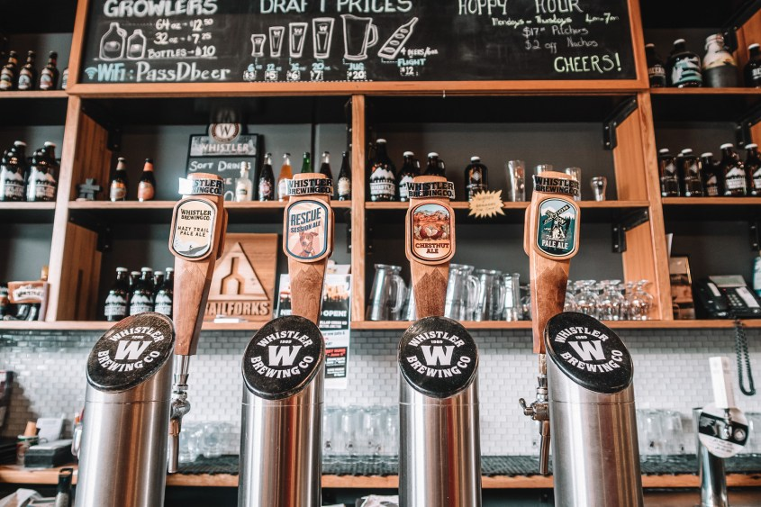 Explore Whistlers craft beer scene in the Function Junction neighbourhood - popular with locals