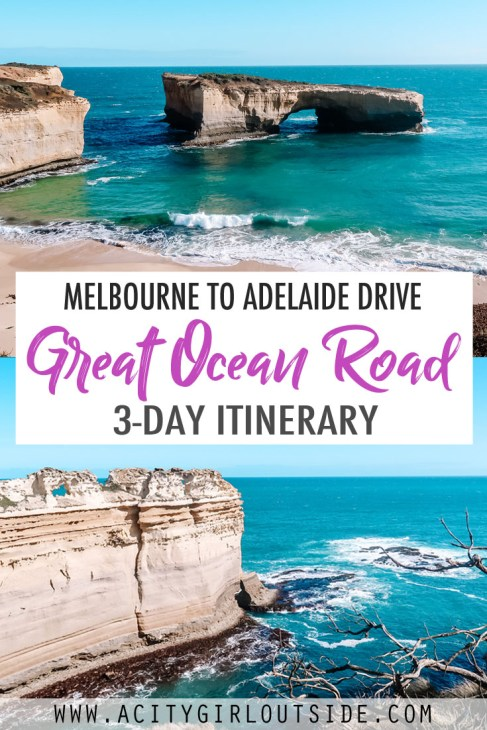Great Ocean Road Itinerary 3 days Melbourne to Adelaide Drive Australia