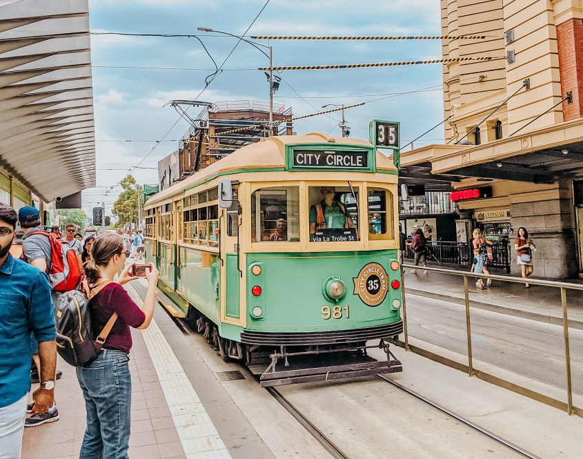 The City Circle tram is a free Melbourne attraction with onboard commentary. A great activity when wondering what to do in Melbourne when it rains