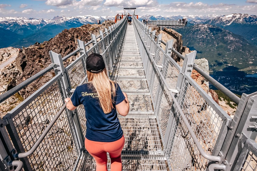 The Cloudraker bridge at the peak of Whistler Mountain is one of the best Instagram spots