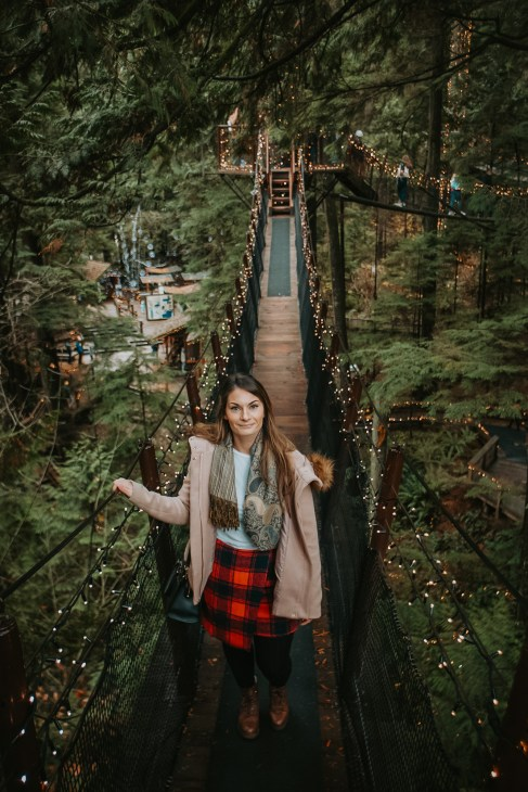 The Capilano Suspension Bridge is one of North Vancouvers best attractions and the perfect place for Instagram shots