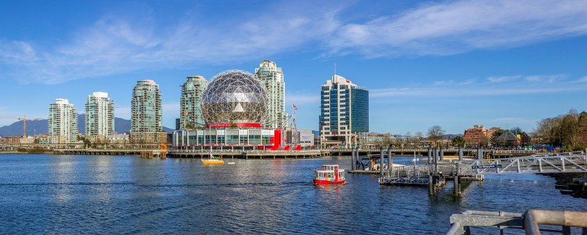 Science World Museum in Olympic Village is a unique building in Vancouver