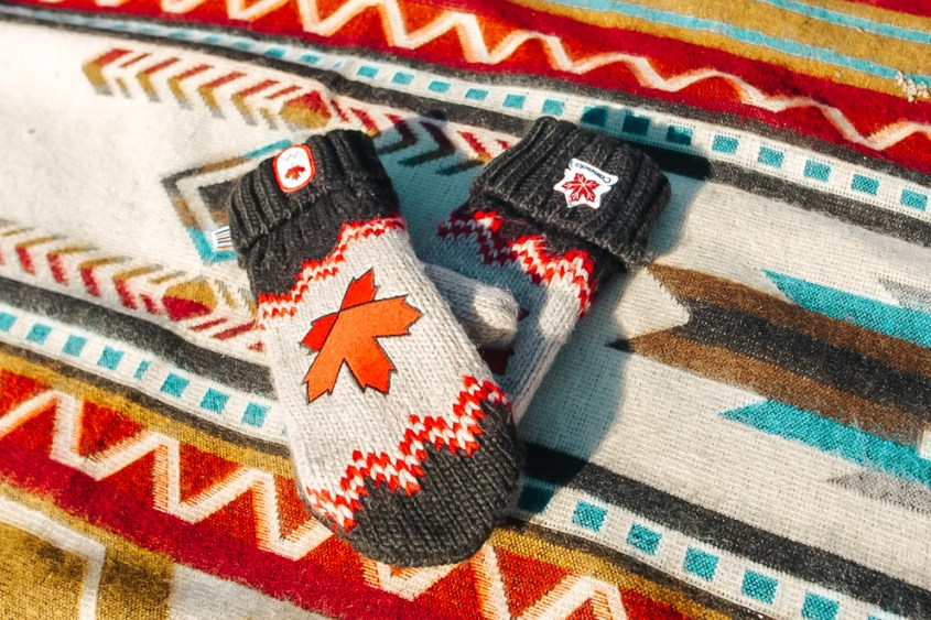 If visiting Canada during the winter, winter apparel such as hats, gloves and scarves are sold in many souvenir stores