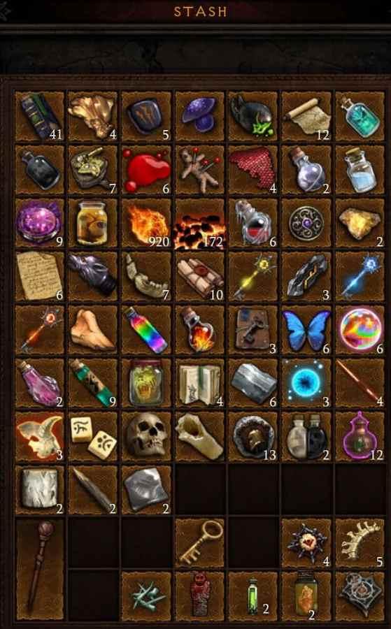 Diablo legendary materials stash