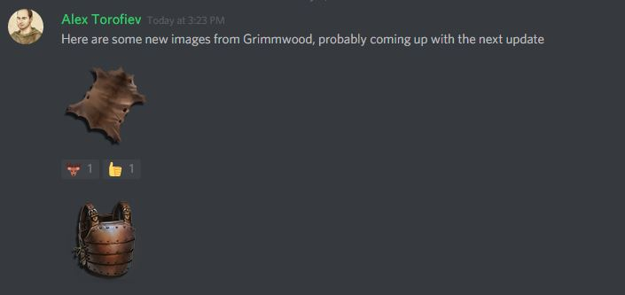 Grimmwood - crafted armour being added