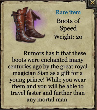 Grimmwood rare - Boots of Speed