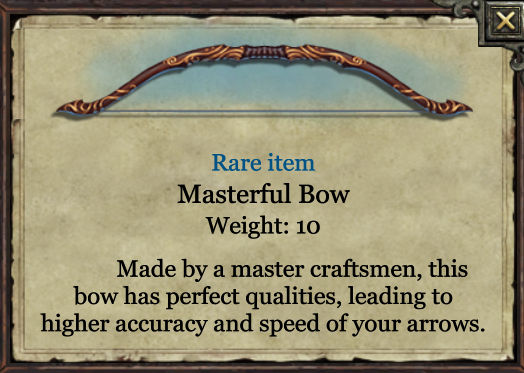 Grimmwood rare - Masterful bow