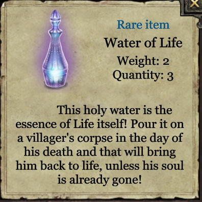 Grimmwood rare - Water of life