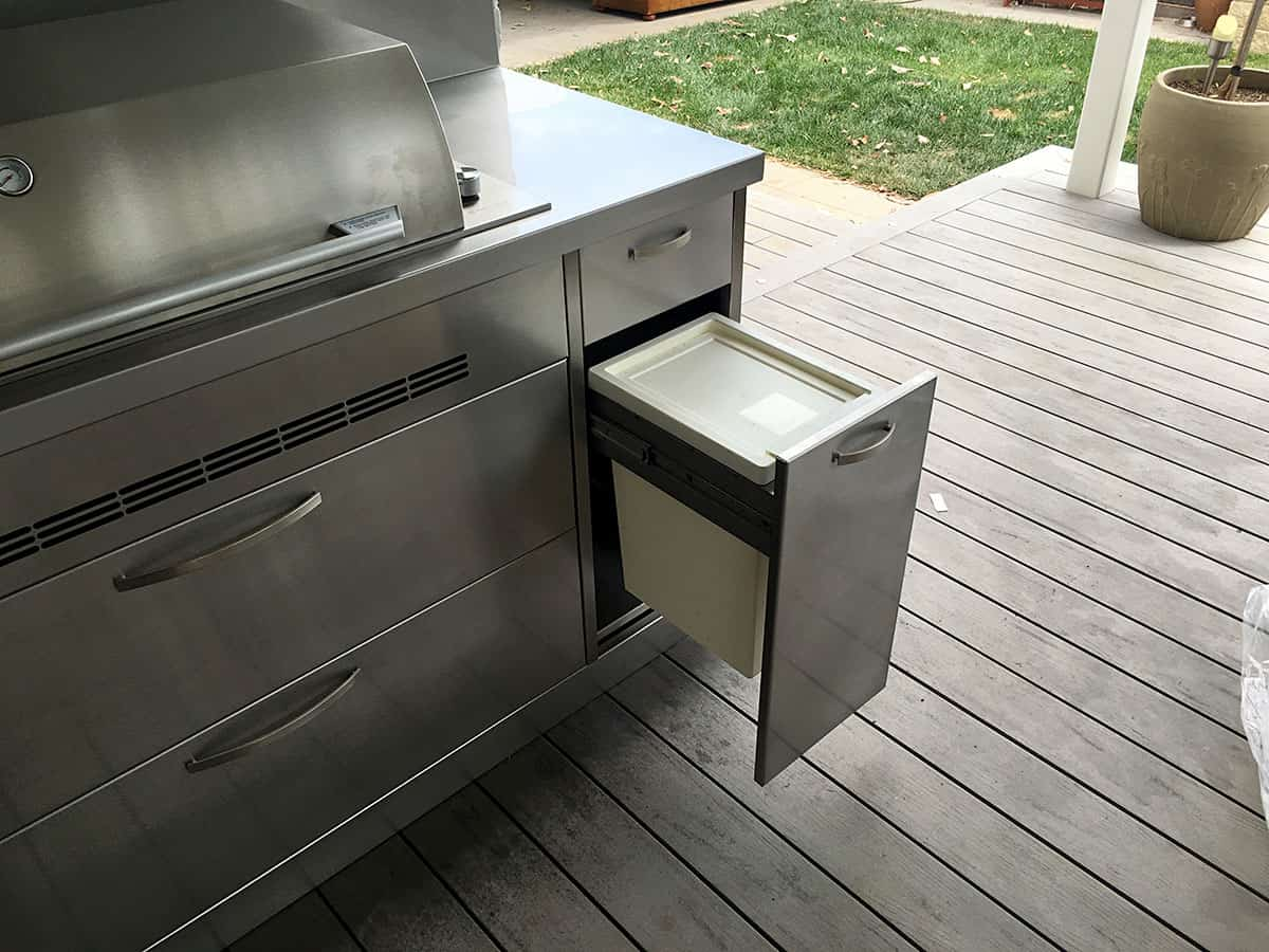 outdoor kitchen cabinets stainless steel lighting over sink kitchens adelaide