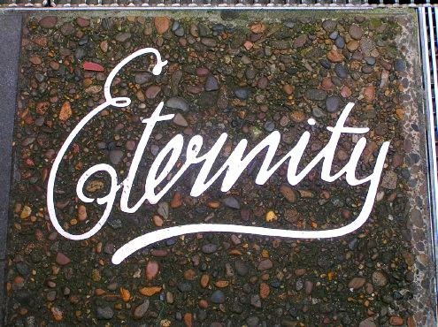 Eternity in aluminium below Sydney Square