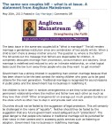 Anglican Mainstream statement