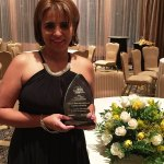 Accepting award from Impacto Latin Newspaper for being one of 2015 Delaware Valley's Most Influential Latinos.
