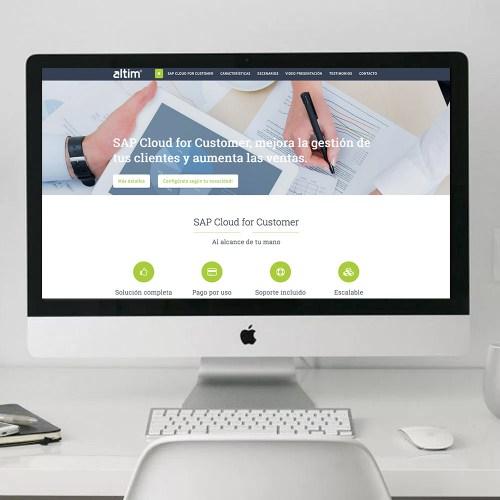 Diseño gráfico y Web para el área de marketing de Altim