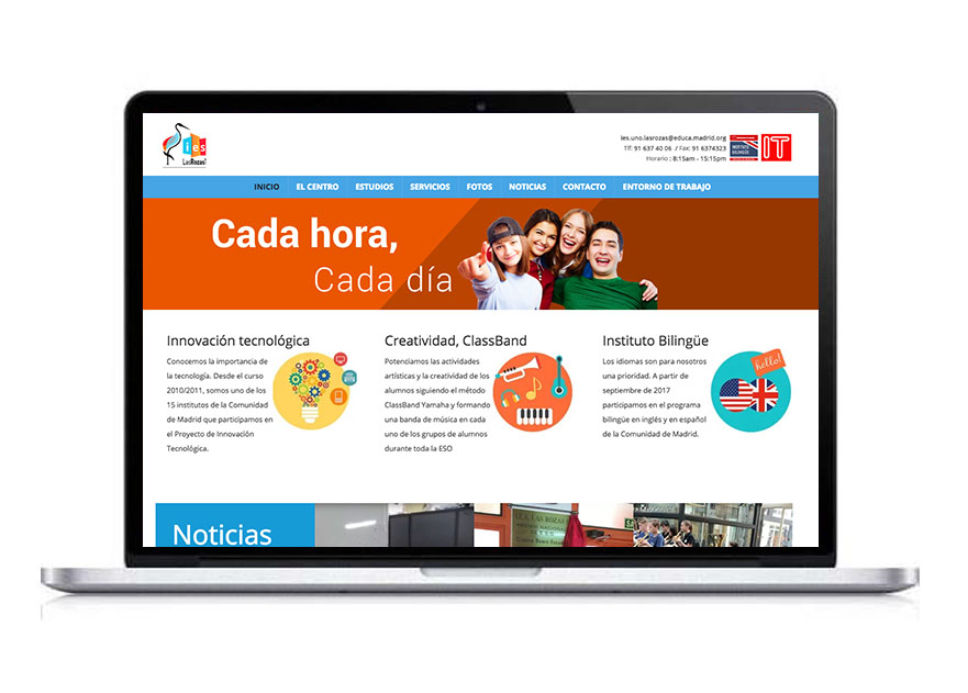 diseño Web IES Las Rozas 1