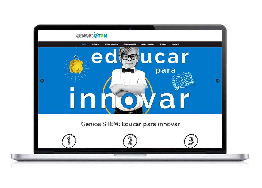 web de Centro educativo Genios Stem