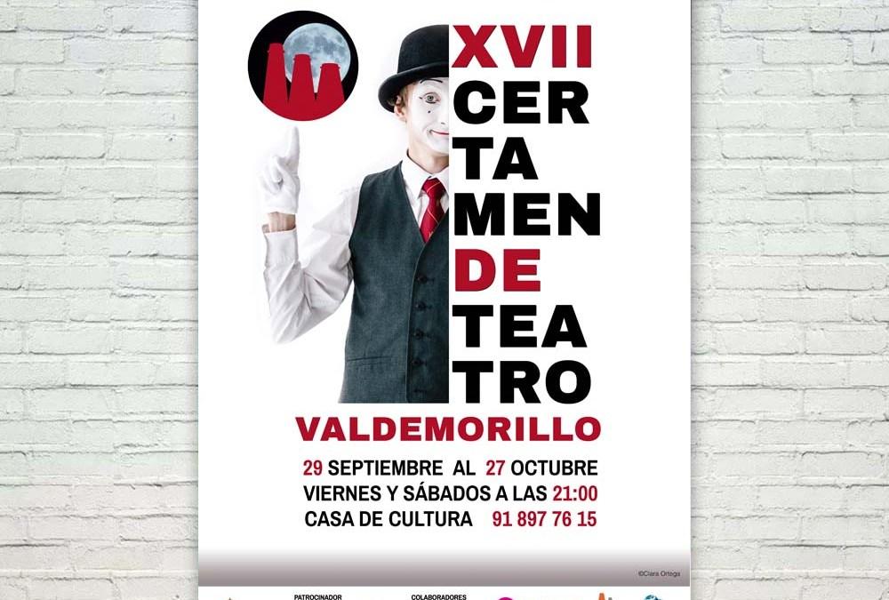 Cartel y Rollup para el Certamen de Teatro de Valdemorillo