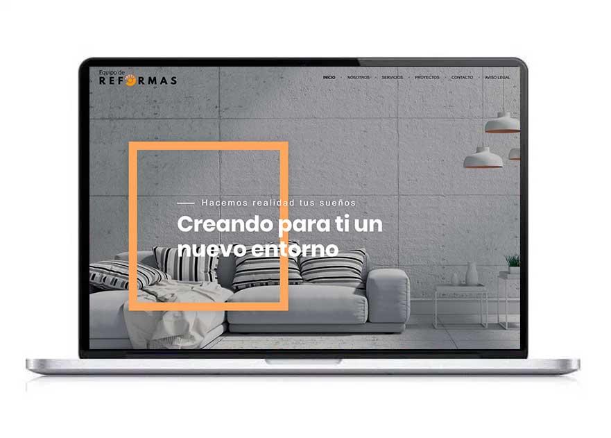 Diseño web equipo de reformas- aclararte