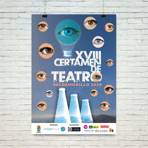 Cartel XVIII Certamen de teatro del Valdemorillo 2019