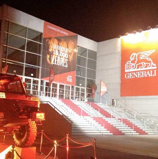 """Acción publicitaria de Organización del evento de Generali """"La fuerza de 10.000 leones"""" para Bassat&Ogilvy. Estudio Aclararte."""