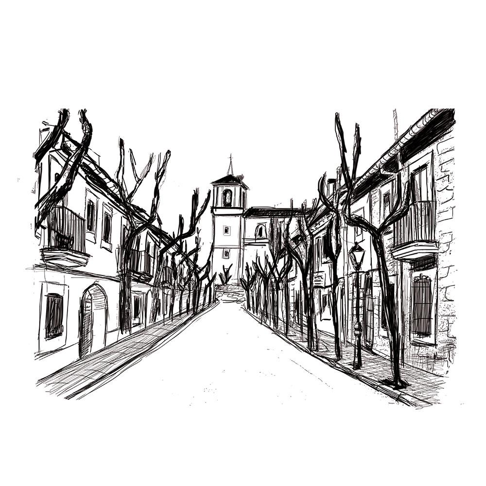 Ilustraciones de la Ruta de la Piedra Valdemorillo. Diseño gráfico y web. Estudio Aclararte