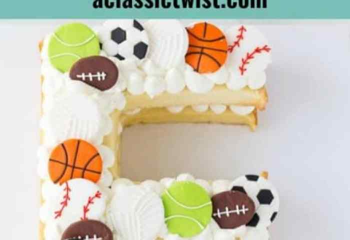 Easy Step By Step On How To Make A Letter Cake