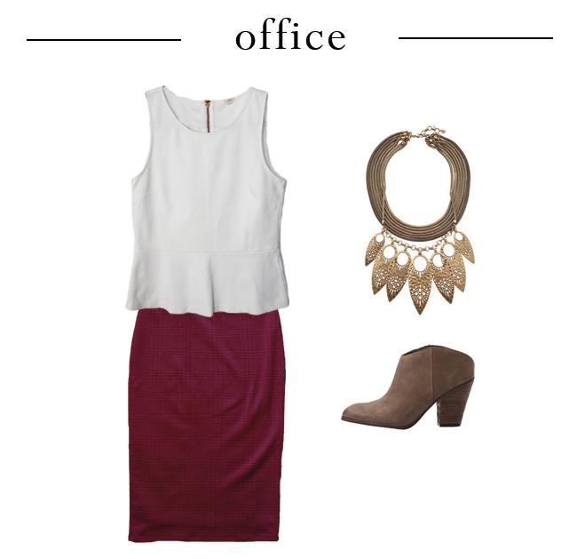One Peplum Three Ways - Office