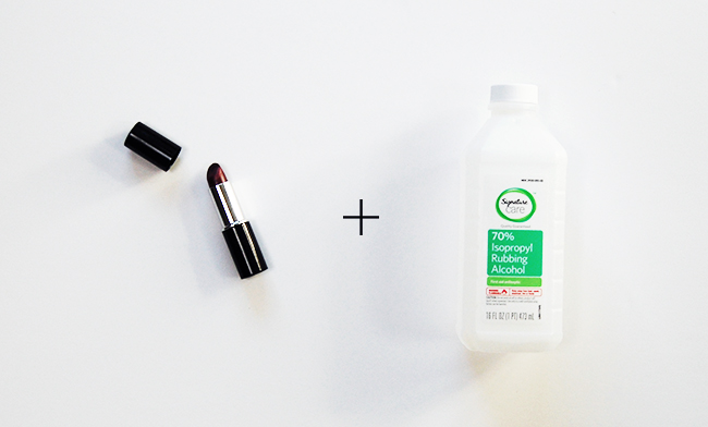 Clothing stain removal - how to handle lipstick stains with rubbing alcohol