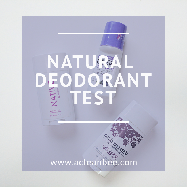 Putting three popular natural deodorant brands to the test