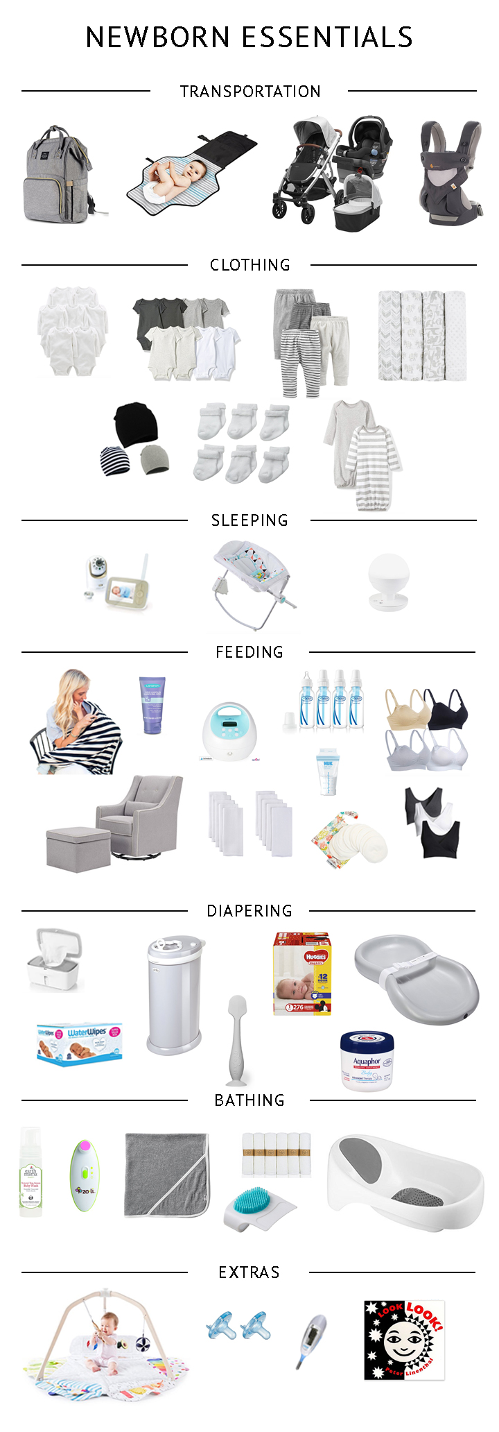 Baby Registry Checklist - essential newborn items for the minimalist mom and baby