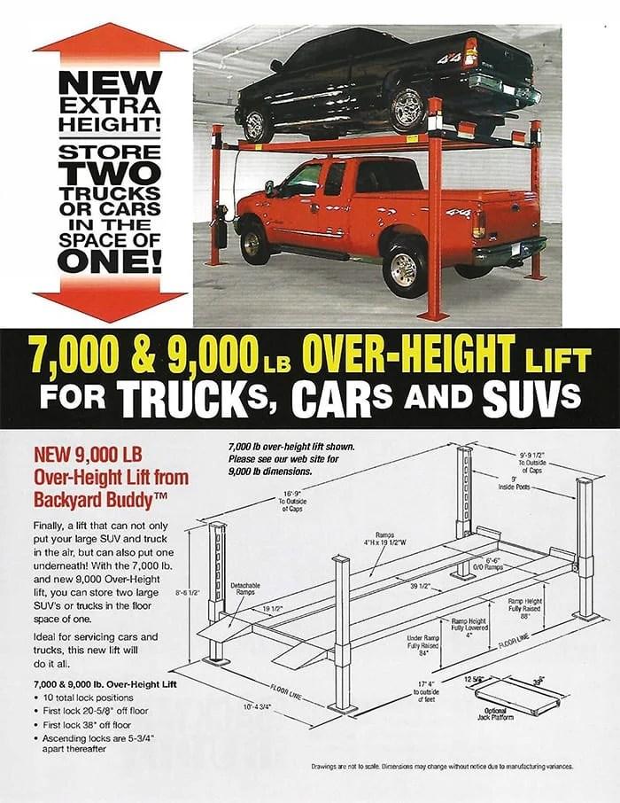 Backyard Buddy 4 Post Car Lift Made in USA - American ...