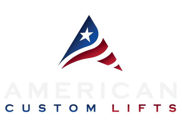 american custom lifts dark logo
