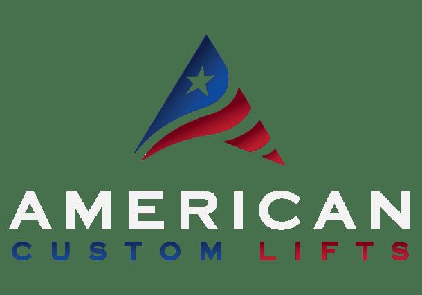american custom lifts dark logo