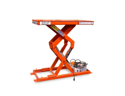 Compact scissor lift table