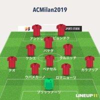 ACミラン 2019-20 予想フォーメーション #ミラン