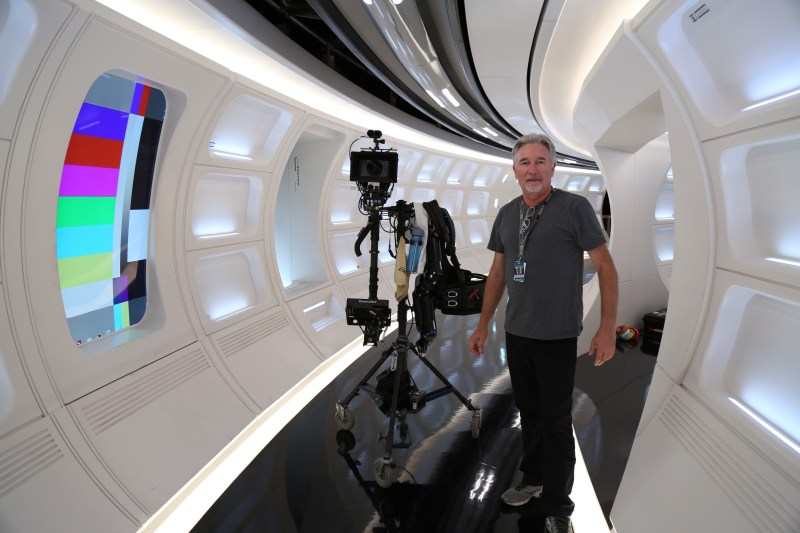 Cinematographer Stephen Windon ACS ASC on the set of the Enterprise - PHOTO Supplied