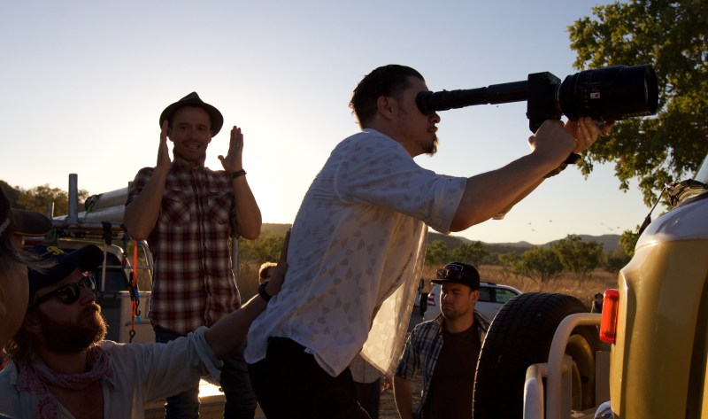 Director Damien Walsh-Howling and DOP Denson Baker NZCS ACS on location with 'MESSiAH' - PHOTO Supplied