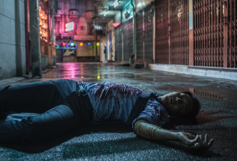 Sean is killed in Thailand, a scene from 'Heartfall Arises' - DOP Sion Michel ACS