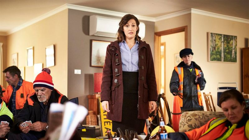 Celia Pacquola in a scene from 'Rosehaven' - DOP Murray Lui
