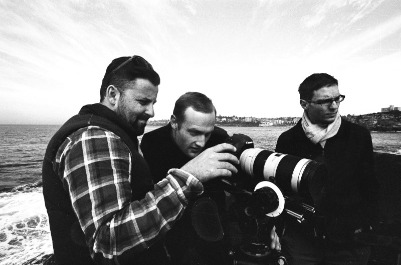 Rodrigo Vidal Dawson, Joseph Sims-Dennett and Zoltan Jonas behind the camera - PHOTO Josh Zammit