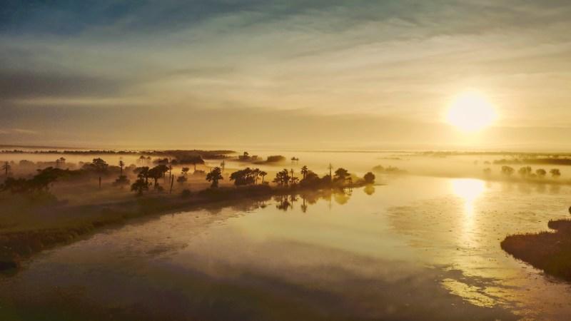 Aerial view of Arnhem Land at dawn - IMAGE Wild Pacific Media