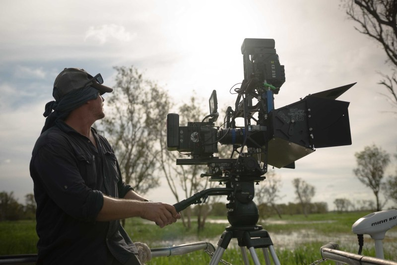 Director and Cinematographer Nick Robinson operates the RED 3D camera rig - PHOTO Wild Pacific Media