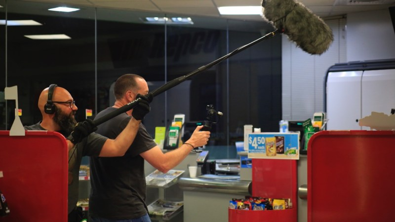 Boom operator Ben Dunker and cinematographer Ryan O'Rourke - PHOTO Supplied