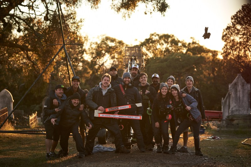 The crew of 'Glitch' on location - PHOTO Ben King