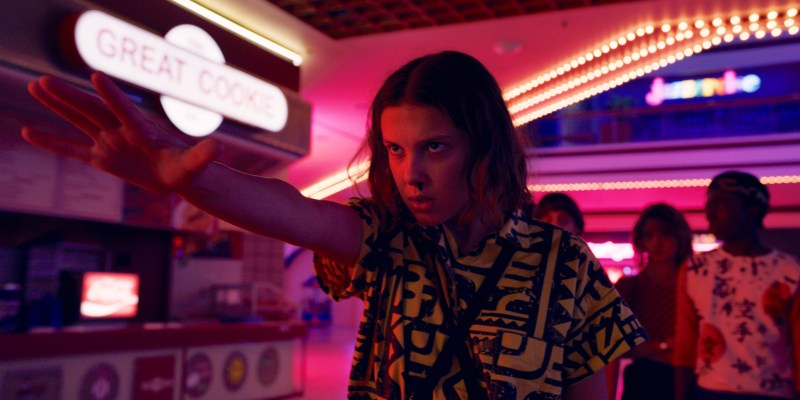 Eleven (Milly Bobby Brown) in the third season of Netflix's 'Stranger Things' - DOP Lachlan Milne ACS