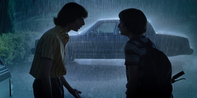 Mike (Finn Wolfhard and Will (Noah Schnapp) in the third season of Netflix's 'Stranger Things' - DOP Lachlan Milne ACS