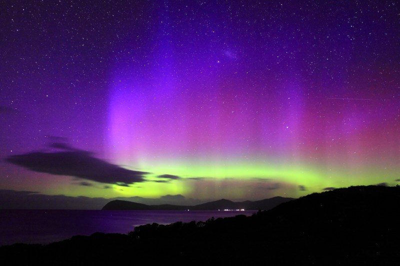 Aurora Australis flickers over a Tasmanian night sky in 'David Attenborough's Tasmania' - PHOTO Matt Hamilton, Terra Mater